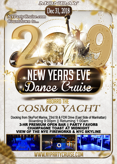 New Year's Eve Fireworks Open Bar Cruise