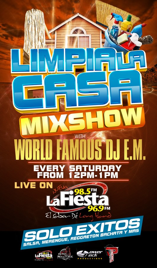 La Nueva Fiesta 98.5FM - DJ E.M. Saturdays 12pm-1pm
