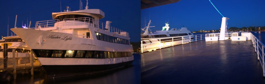 Midnight Cruises aboard the multi-level Harbor Lights Yacht